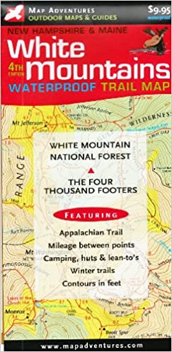 White Mountains Trail Map: New Hampshire & Maine: Steve ...