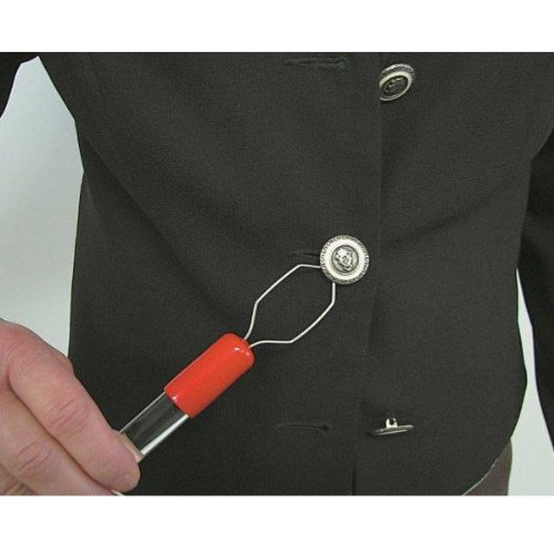 Button Hook -Large, Acrylic Grip