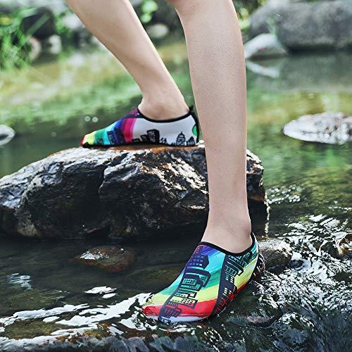 Nus Aux Légères À Plongée Et Pieds Sable Chaussures Yoga Surf D'eau Swim Durables 4 Eau Unisexes Semelle Séchage De Nues Sport Rapide zxYwwqnI7
