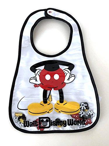 Walt Disney World Parks Mickey Mouse Body Parts Vinyl Baby Bib