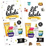 Lil Labels Bottle Labels, Self-Laminating, Waterproof Baby Bottle Label for Daycare (Variety Pack, Set of 2)