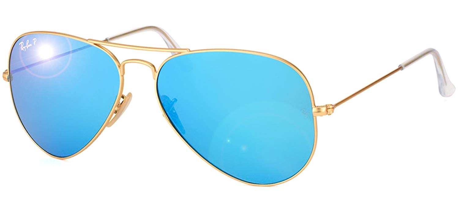 Ray-Ban Aviator Classic, Matte Gold, 58 mm by RAY-BAN
