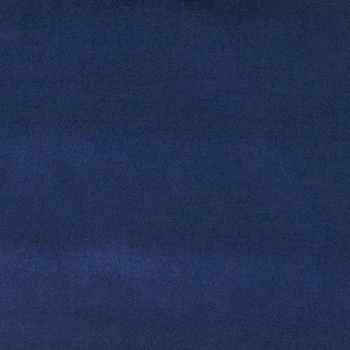 A0001G Dark Blue Authentic Cotton Velvet Upholstery Fabric By The Yard (Dark Blue Cotton Upholstery)