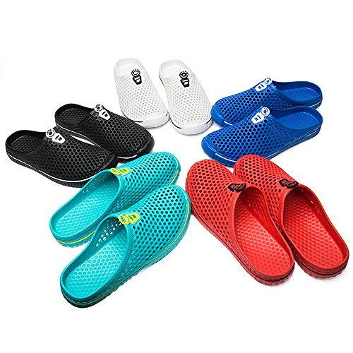 Clogs Couple Footwear Shoes SONLLEIVOO Quick Summer Breathable Beach Sandals Drying Unisex Blue Slippers Mesh Garden for Slippers ESwSZxBq