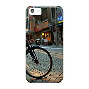 Fashion Tpu Case For Iphone 5c- Bicycle Defender Case Cover