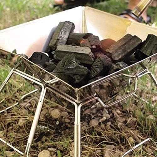 Barbecue HZY Pliable et Amovible Charbon Portable Grill, Ustensiles de en Plein air, for Le Camping, randonnée, Pique-Nique 33cm * 22cm * 31m