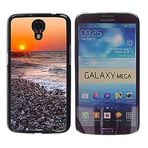 Paccase / SLIM PC / Aliminium Casa Carcasa Funda Case Cover - Sunset Beautiful Nature 116 - Samsung Galaxy Mega 6.3 I9200 SGH-i527
