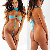 2018 Trim Micro Bikini Set Beach Wild Swimming Lingeries Costumes Sex Teeny Swimwear Female Extreme Women G-String Swimsuit Color 17112 Size One Size