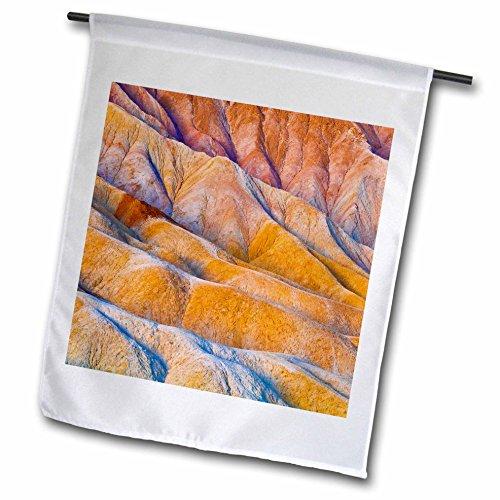 3dRose Danita Delimont - Abstracts - Eroded hills below Zabriskie Point, Death Valley NP. California - 12 x 18 inch Garden Flag - California Desert Hills