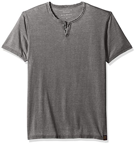 Lucky Brand Men#039s Burnout Notch Neck Tee Black Mountain XL