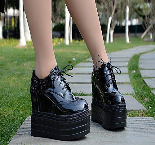 Único GTVERNH Cuatro Negro Spring Y Gruesa De Edad Zapatos Thirty Suela Mujer Zapatos Treinta four Estilo Zapatos Británico Zapatos rgS4qBwrxz
