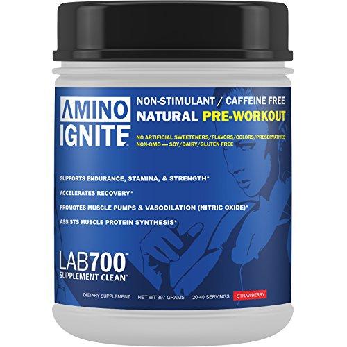Amino enflammer naturel pré-entraînement : Non stimulante (caféine) sans édulcorants artificiels, des couleurs, des colorants ou des arômes ; Non-OGM, naturellement sucrée et parfumée