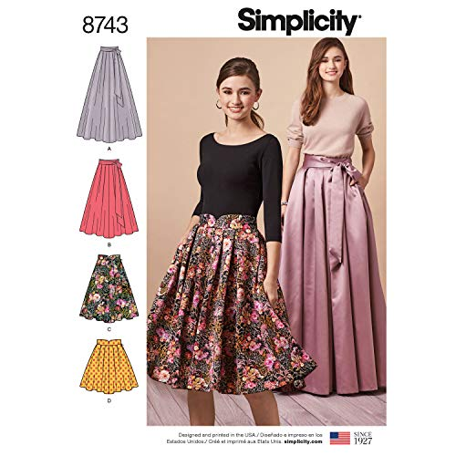 Simplicity 8743 Misses' Pleated Skirts R5 (Sizes 14-22) ()
