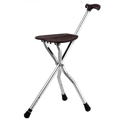 Alliage aluminium Bâton de marche Randonnée voyage loisirs Tabouret Canne Bâton de marche pour les personnes âgées Walker