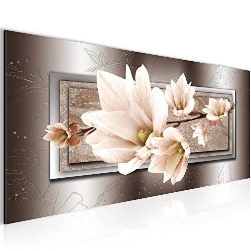 Kunstdruck Leinwand Vlies Wanddeko Bild Bilder Wandbild XXL Blumen Magnolien