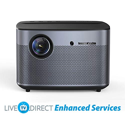 LiveTV.Direct Enhanced H2 Home Cinema Projector Global Version Native 1080p HD Android 3D Smart TV Home Video Movie 4K Projector Built-in Harman/Kardon Hi-Fi Stereo