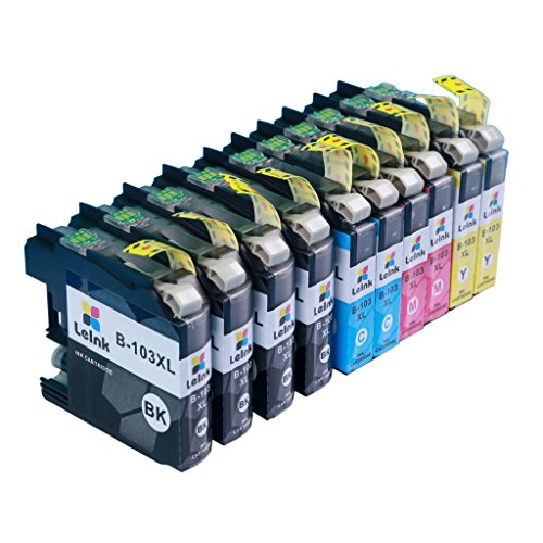 LC103 Ink Cartridge 10 Pack Compatible with Brother MFC J245 J870DW J4310DW J4410DW J4510DW J4610DW J4710DW J6520DW J6720DW J6920DW Printer