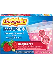 Emergen-C Immune + System Support with Vitamin D Dietary Supplement (Raspberry Flavor, 30-Count 0.32 oz. Packets)