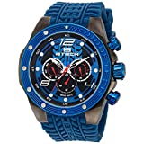 BTECH Unisex BT-RA-684-04 - Racing Analog/Multifunction Blue Silicone Strap Band Wrist Watch