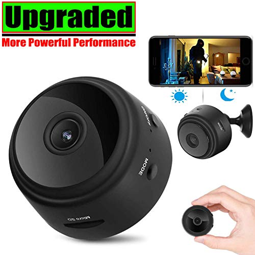 [Upgraded] Spy Camera Wireless Hidden Cameras Mini WiFi Cam HD 1080P Small Nanny Cams Home Security Battery Powered Motion Detection Night Vision Remote View by Android/iPhone/PC (Night Color Vision Mini)