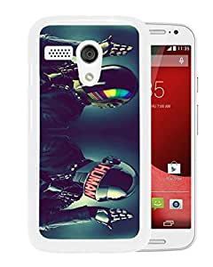 Fashionable And Unique Designed Cover Case With Daft Punk Style Music White For Motorola Moto G Phone Case