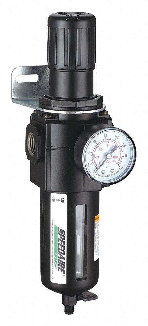 SPEEDAIRE 4ZL01 Pneumatic Filter Regulator 1/2IN 150PSI 212CFM by Speedaire