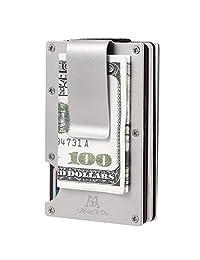 ManChDa Aluminum Slim RFID Blocking Minimalist Front Pocket Wallet Money Clip