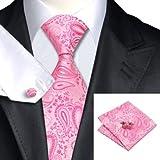 N0379 Jason Vogue 100% Pure Luxury Silk Italy Designer Hand Made Tie-Handkerchief-cuff-links Gift Box …