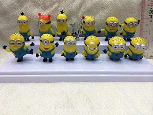 Bossel Cute Mini 12pcs Set of Despicable Me 2 Minions Movie Character Figures Doll -