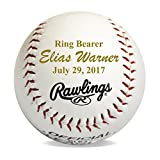 Custom Personalized Baseball Gifts for Ring Bearers Groomsmen Coach - Monogrammed and Engraved for Free