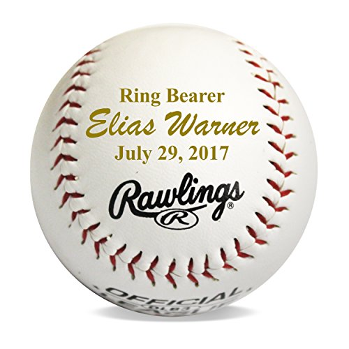 (Custom Personalized Baseball Gifts for Ring Bearers Groomsmen Coach - Monogrammed and Engraved for Free )