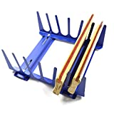 Techtongda 6 Layers Desktop Screen Printing Squeegee Rack Silk Screen Squeegee Scraper Spatula Steel Holder Organizer