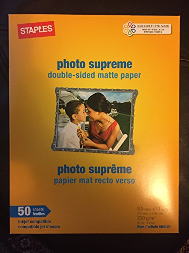 - Staples Photo Supreme Double-sided Matte Paper