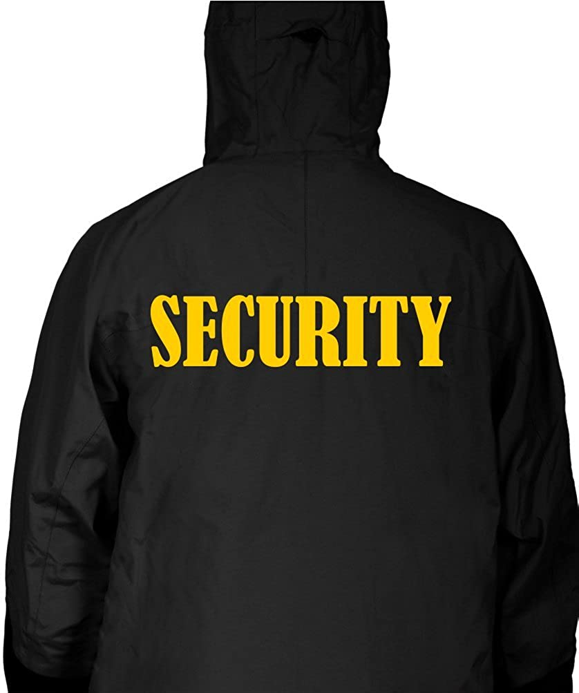 f9590bab1 Security Black Hooded Jacket Windbreaker Fleece-Lined for Events ...