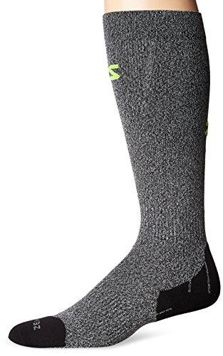 Zensah Tech+ Compression Socks, Heather Grey, Large