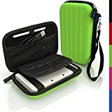 iGadgitz Green EVA Hard Travel Carry Case Cover for New Nintendo 3DS XL 2015 with Clip On Carry Strap