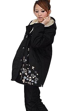 Amazon Womens Warm Hooded Winter Jacket Wool Coat C10 Clothing