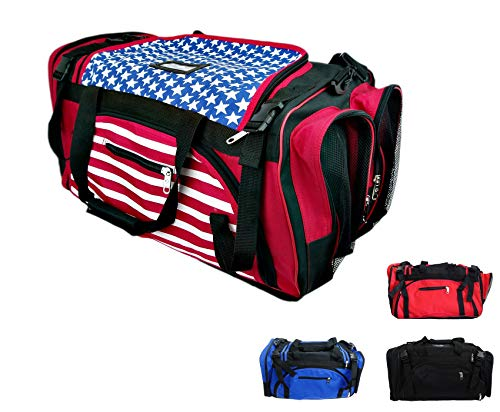 "PROWIN1 Martial Arts Mesh Gear Bag Taekwondo, Karate, MMA, Boxing Equipment Bag - 22""/24""/27"" L (Black/Red, 27"" L)"