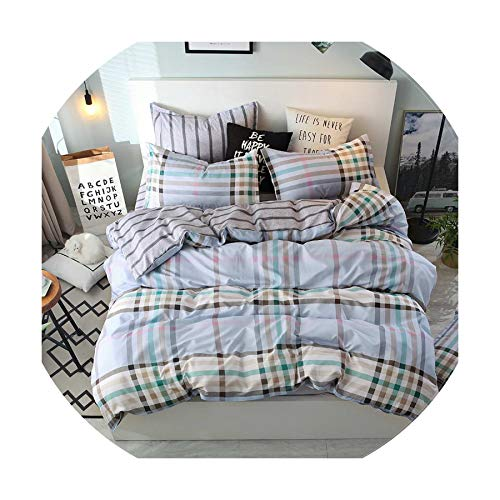 The fairy Bedding Set Fashion Luxury Stars Home Textile Duvet Cover Bed Linen Sheet Soft Comfortable 3/4Pcs King Queen Full Twin Size,Look,Full Cover 150By200,Flat Bed Sheet