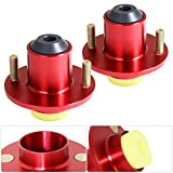 For Civic Del Sol CRX Integra JDM Red Aluminum Suspension Coilover Shock Top Mount Hat Bushing Bump Stop