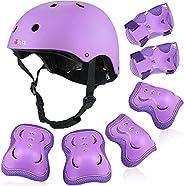PHZ. Kids Helmet Toddler Elbow Knee Wrist Pads 3-10 Years Child Boy Girl Adjustable Protective Gear Set CPSC C