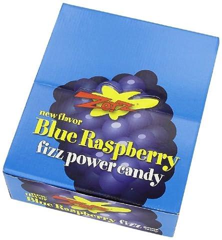 Zotz Fizzy Candy, Blue Raspberry, 7 Ounce (Pack of 48) (Zotz Bombs Candy)