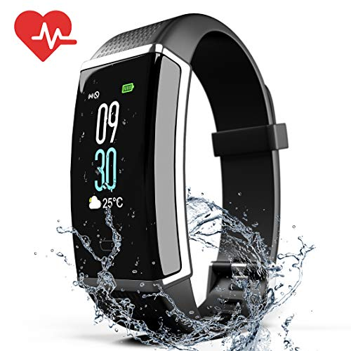 ZyMaSh Fitness Tracker – Color Smart Watch – Heart Rate Fitness Tracker – IP68 Waterproof ‎Fitness Watch – Fit Watch Tracker Pedometer for Men, Women, Kids – Activity Tracker