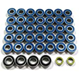 Boom Racing #F350BBZ High Performance Full Ball Bearings Set Rubber Sealed (41 Total) for Tamiya Ford F350 High-Lift