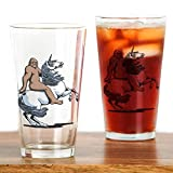 CafePress - Bigfoot Riding a Unicorn Drinking Glass - Pint Glass, 16 oz. Drinking Glass