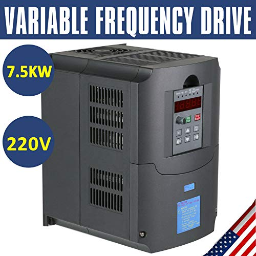 hometreex TOP 7 5KW 220V 10HP 34A VFD Variable Frequency Drive Inverter CE Quality