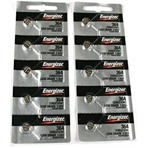 364 Energizer Watch Batteries SR621SW Battery Cell