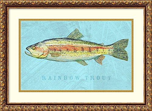 Framed Art Print 'Rainbow Trout' by John W. ()