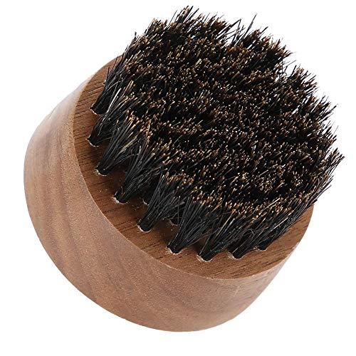 Cepillo de barba Cepillo de pelo Mango de madera Barba Limpieza Afeitado Cepillo de modelado para hombres (Black Walnut)