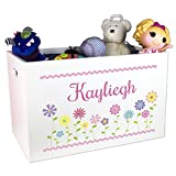 Girl's Personalized Toy Box